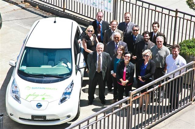 Officials and agency employees gathered for the announcement of the rollout on June 8. Photo courtesy of Alameda County.