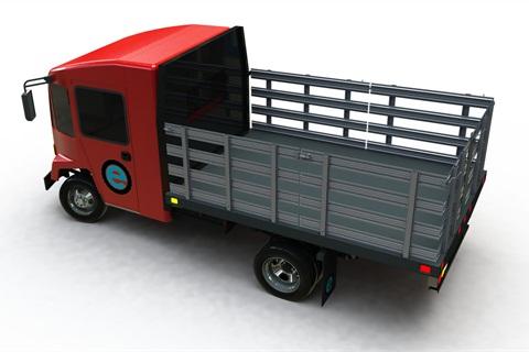 BEV flatbed truck