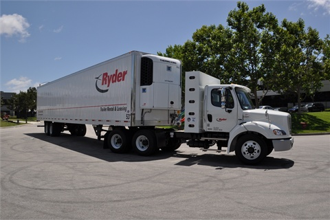 A Ryder truck powered by CNG