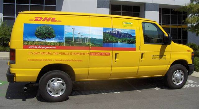 The new Ford E-250 cargo vans will be on the road by late August and will support DHL Express pickup and delivery service within California, Florida, Georgia, Missouri, and Texas.