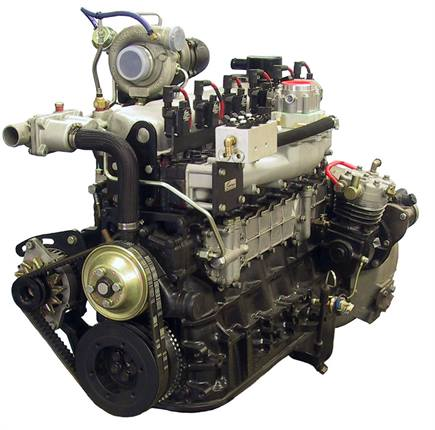 An OM6NG1/OM6NG2 diesel-to-natural gas engine.Photo courtesy Omnitek