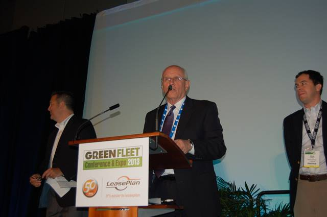 Mesa Public School's Ron Latko accepts the 2013  Propane Autogas Fleet award at the recent Green Fleet Conference & Expo in Phoenix.
