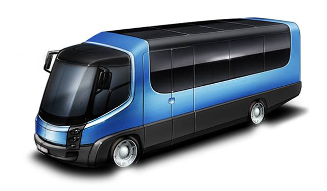 GAC recently began production of its all-electric shuttle bus. Photo courtesy Green Automotive Company