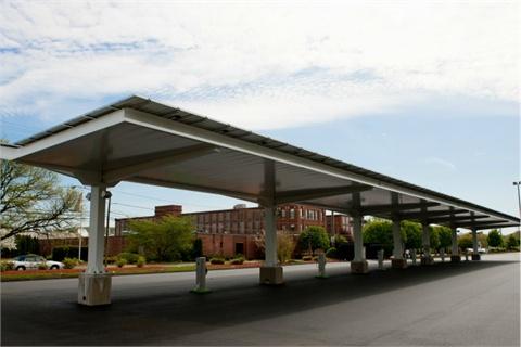 The GE EV Solar Carport in Plainville