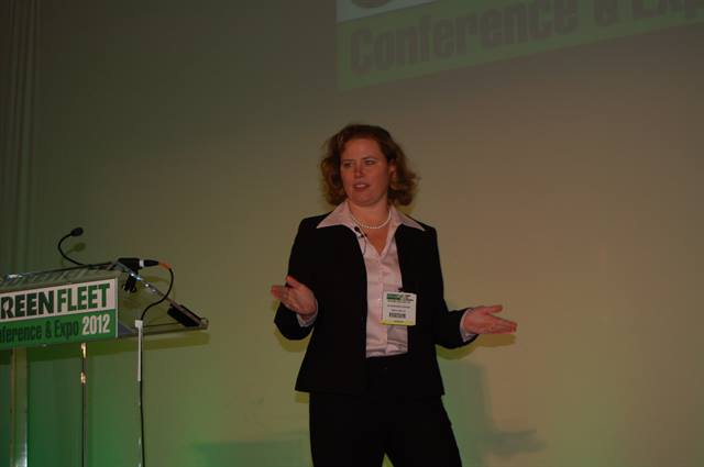 GE's Johanna Wellington discusses EVs and natural gas vehicles in her keynote at the 2012 Green Fleet Conference.