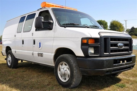 Photo of bi-fuel van courtesy of INDOT.