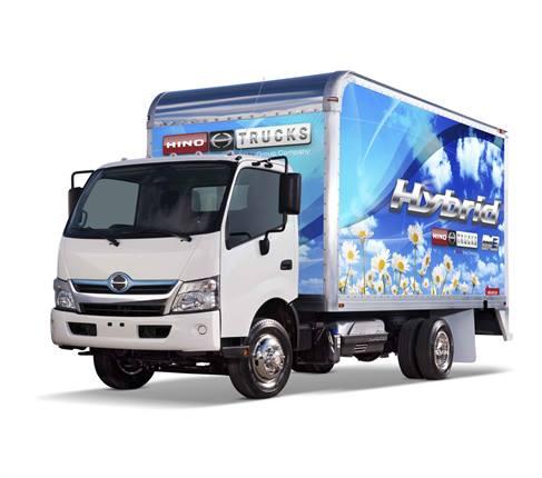 A medium-duty hybrid truck from Hino Trucks.