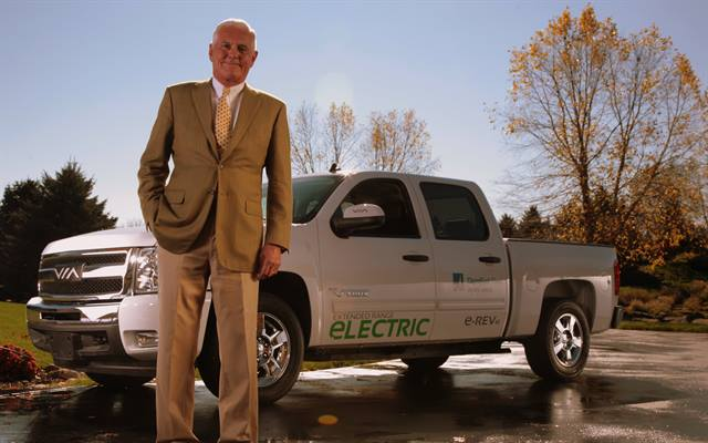 Bob Lutz on Jan. 10 will introduce three new extended-range electric vehicles from VIA Motors, including a pickup truck.