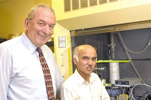 USC professors George Olah and G.K. Surya Prakash. Photo courtesy of USC.
