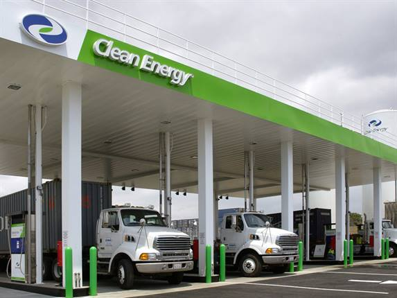 Truck fleet operators can work with Clean Energy to develop natural gas fueling contracts. Photo courtesy Clean Energy Fuels.