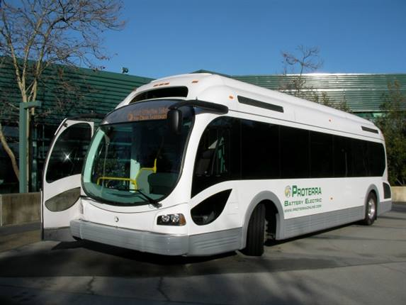 Proterra's EcoRide BE-35 battery electric bus