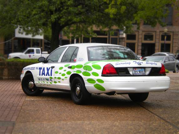 Taxi Cab Company of Tyler's propane-autogas-fueled taxi.Photo courtesy Taxi Cab Company of Tyler