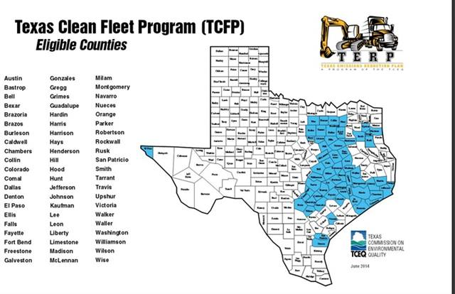 Map courtesy of Texas Commission on Environmental Quality.