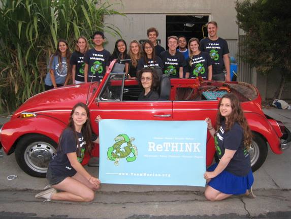 Santa Monica High School's Team Marine converted a Volkswagen Super Beetle from gasoline to all-electric.Photo courtesy Benjamin Kay
