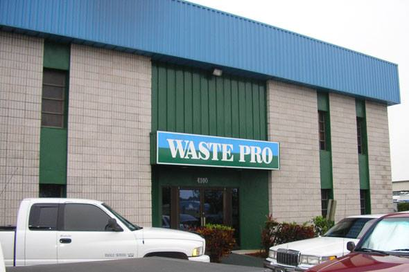 A CNG fueling station is planned for Waste Pro's facility in Fort Pierce, Fla.