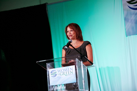 Gloria Reuben, the Canadian actress and singer, was a main speaker at the 2013 Women In Green Forum.