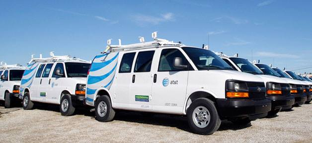 AT&T is halfway to its 2018 AFV goal with the addition of its latest 2013 compressed natural gas Chevy Express van.