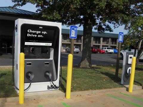 ECOtality's Blink EV charging station