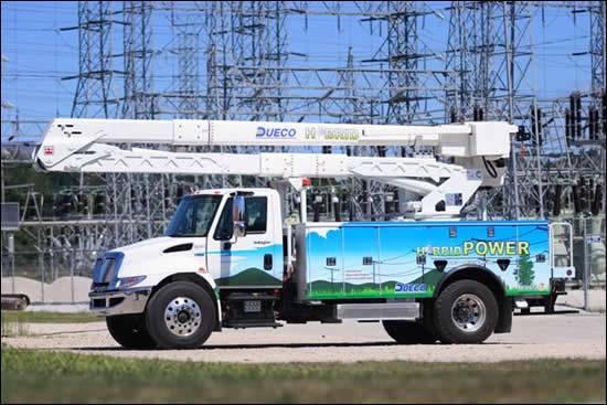 Odyne Systems has developed a hybrid solution for work trucks.