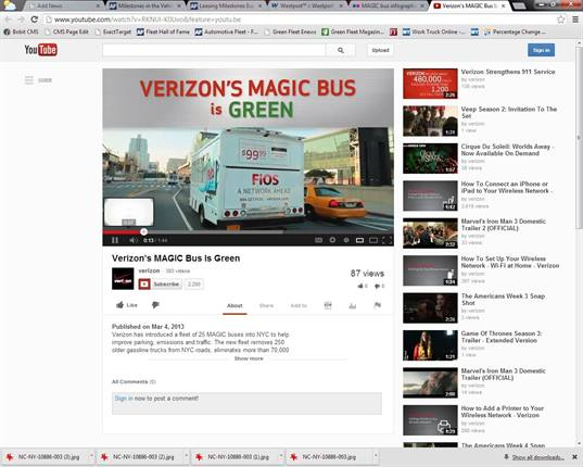 "<p>Video of Verizon's MAGIC bus is <a href=""http://www.youtube.com/watch?v=RKNUl-K0Uvo&amp;feature=youtu.be"" target=""_blank"">available on YouTube</a>.</p>"