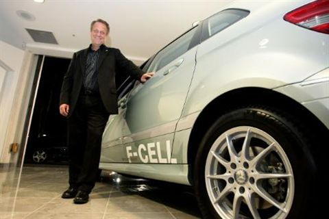 Vance Van Petten is part of a select group of participants in a Mercedes-Benz lease program for the B-Class F-CELL Hydrogen car.