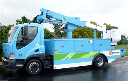 Based Altec Industries Inc Unveiled America S First All Electric Utility Truck With An