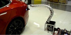 Tesla Unveils 'Charging Snake' for Model S