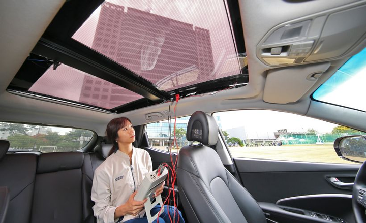 Hyundai and Kia will offer a solar roor charging system with certain vehicles after 2019.  - Photo courtesy of Hyundai.