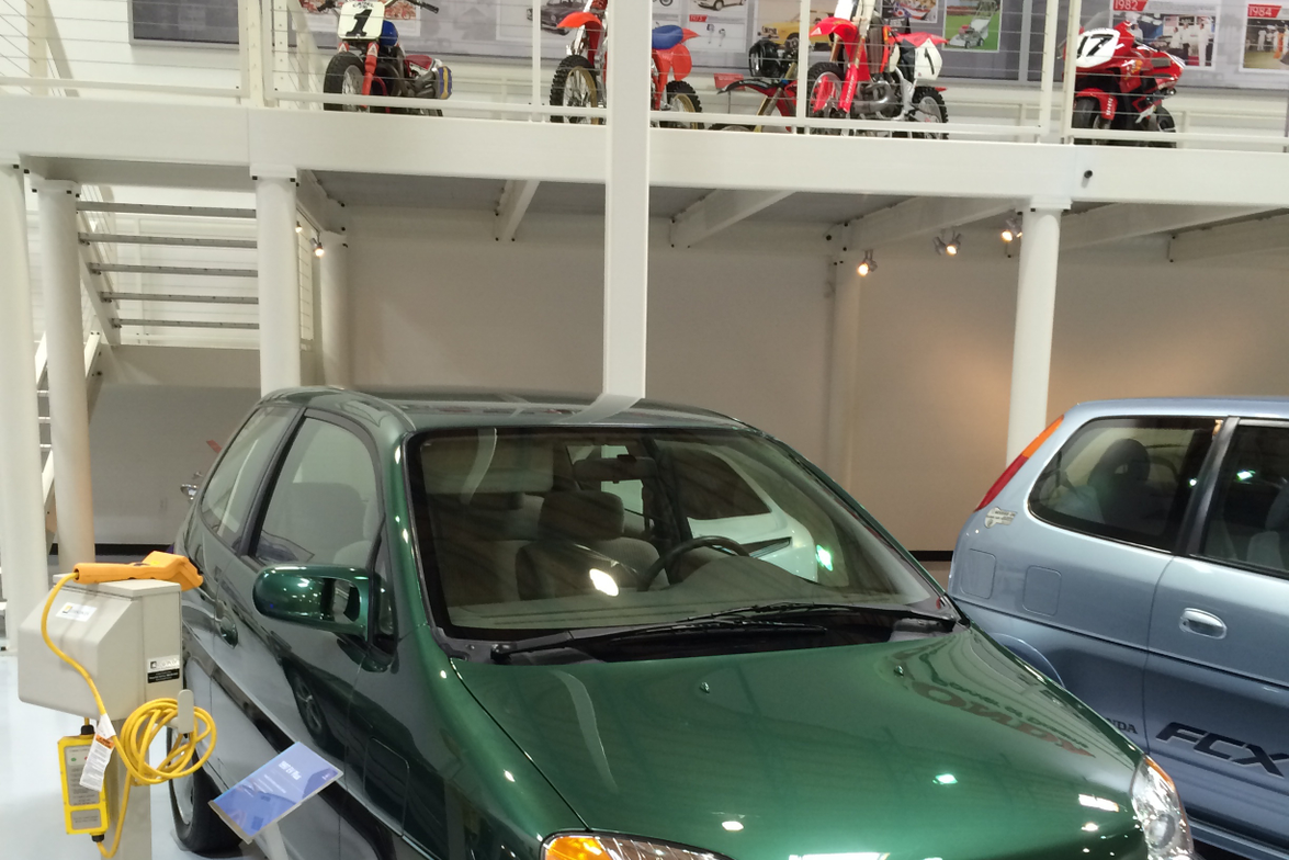 The 1997 EV Plus was Honda's first battery-electric vehicle with a range of 110 miles. It was...