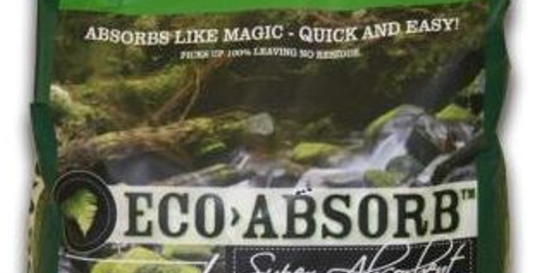 Eco Absorb is used to clean up oil spills and more.Photo courtesy Eco Absorb
