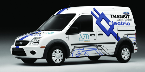 The Transit Connect Electric is powered by Azure Dynamics' Force Drive electric powertrain. The...