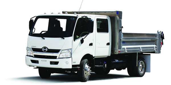 Hino's Class 5 COE trucks feature a diesel or diesel-electric hybrid powertrain and can be used...