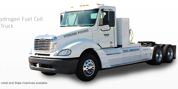Vision Delivers Fuel Cell-Electric Truck to Total Transportation Services