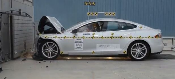 2013 Tesla Model S Frontal Crash Test