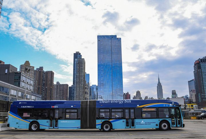 NYCT's all-electric articulated buses will serve all five boroughs, thanks to funding from the MTA's 2020-2024 Capital Plan. - Marc A. Hermann