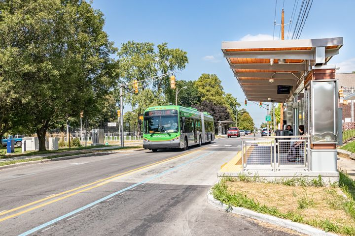 """In Indiana, legislation has been passed allowing """"self-help"""" referenda such as what is commonplace in the western U.S., which resulted in voter support for a bus rapid transit network in Indianapolis. - IndyGo"""