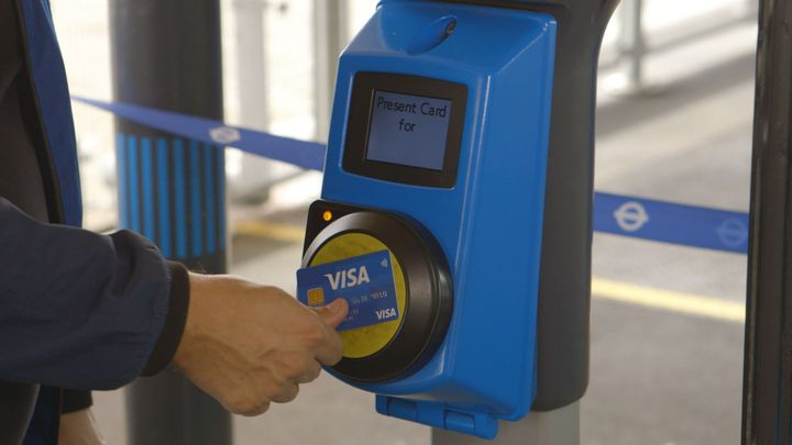 The move away from from traditional fareboxes has emphasized the need for e-faring (e.g. mobile phone APP based), adding contactless faring (i.e. credit cards), wearables (i.e. bracelets with account card chips), and even zero fare transportation. - Photo courtesy Visa