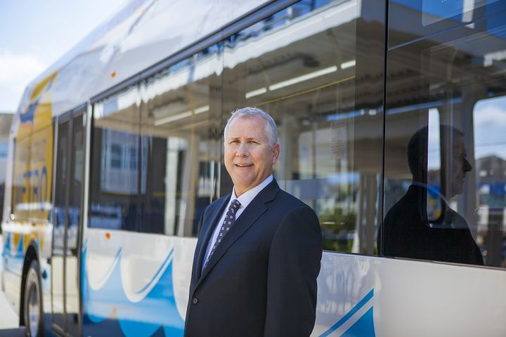 Alex Clifford, CEO of Santa Cruz Metro, says the agency will use its Proterra buses as a starting point in collecting data and feedback on the feasibility of electric buses for its operations. - Photo courtesy Proterra
