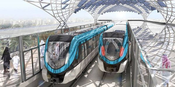 A new metro line in Riyadh, Saudi Arabia will span 109 miles and include 85 stations and six...