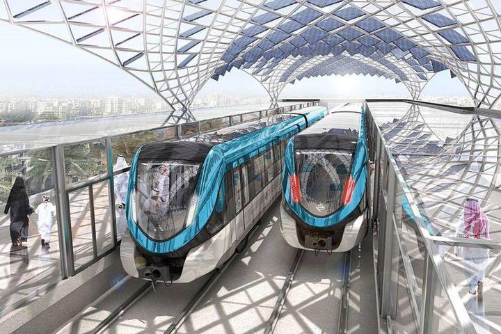 A new metro line in Riyadh, Saudi Arabia will span 109 miles and include 85 stations and six rail lines. - Credit: Métro_de_Riyad_©_Avant_Première
