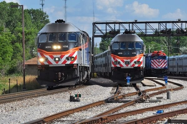 Today, Metra boasts 11 lines and 242 stations, all in its spiderweb-looking system. - Metra
