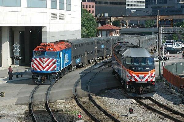 With an eye toward a greener footprint, Metra is planning to convert their older diesel locomotives to battery-powered engines. - Metra
