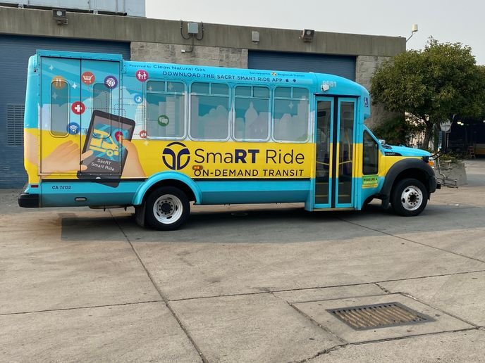 As riders continue to express their satisfaction with the SmaRT Ride program, SacRT has focused its efforts on sustainability, deploying GreenPower's EV Star All-Electric Min-eBuses. - SacRT