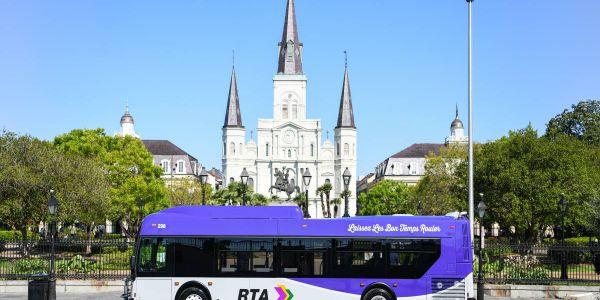 New Orleans RTA's bus redesign was launched in May 2021.