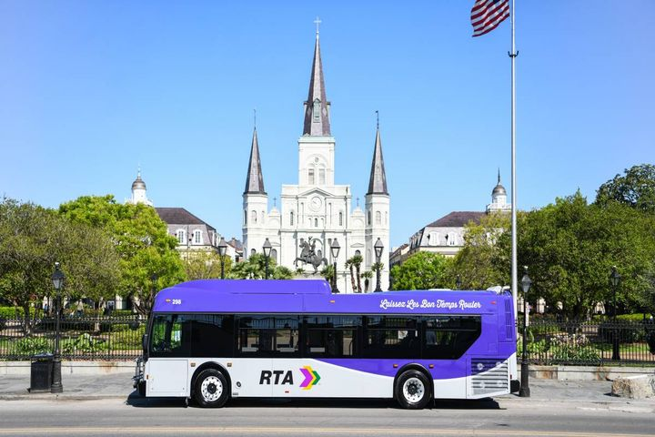 New Orleans RTA's bus redesign was launched in May 2021. - Photo: New Orleans RTA