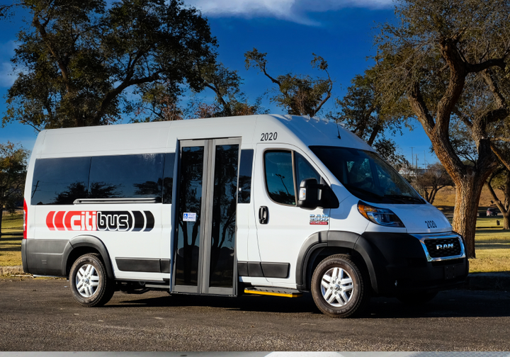 In nearby Lubbock, the Citibus vaccination service must be booked at least 24 hours ahead of the rider's appointment date either through its on-demand app or by calling a dispatcher. - Citibus/Spare