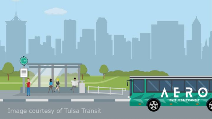 Tulsa's AERO BRT was seen as so important that its timeline was acelerated. Now, a second route is underway. - Photo: Tulsa Transit
