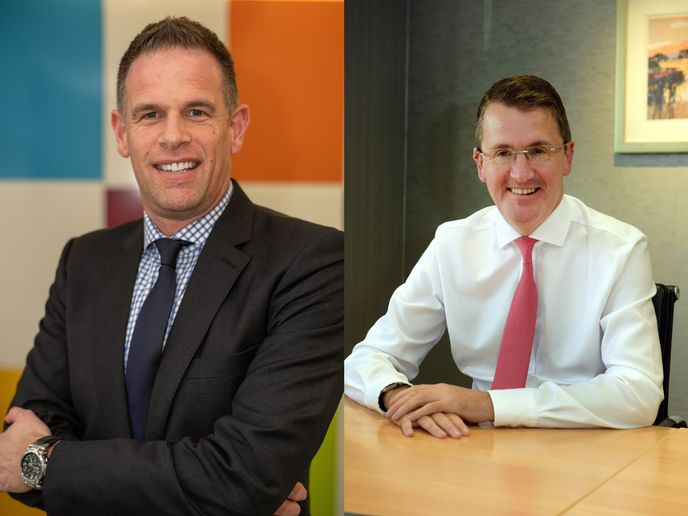 Paul Davies (left) will take over as president and managing director for ADL, while Colin Robertson (right) will join the NFI Group's board as vice chair. - ADL