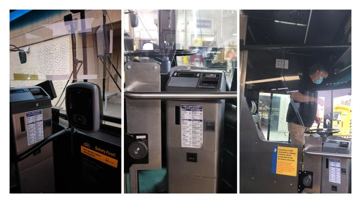 Designed by DART Engineering, with collaboration with its fleet maintenance and bus operations teams, the Cv-19 Plexiglass Shields are made of high-impact plexiglass and are being installed between the operator and passengers. - DART