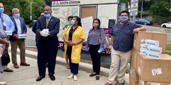 Local officials in each community will determine the best use of the face masks donated by...